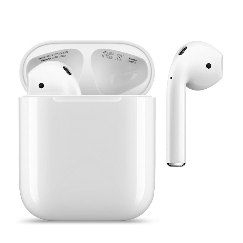 apple airpods 2 con custodia di ricarica wireless